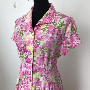 Floral Midi DressBarn Dress Size 14P